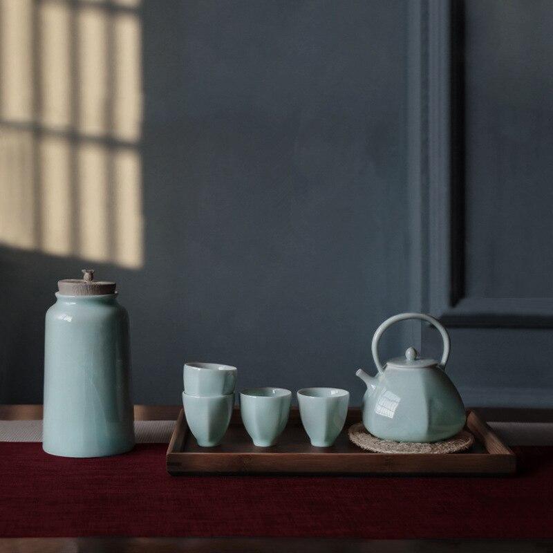 Thé chinois kung fu thé théière en céramique thé caddy thé cérémonie accessoires logo personnalisé