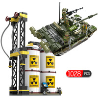 1028pcs Military Series Russia T 72 Main Battle Tank Compatible Legoed Ww2 Army Soldier Action Figures Building Blocks Kids Toys