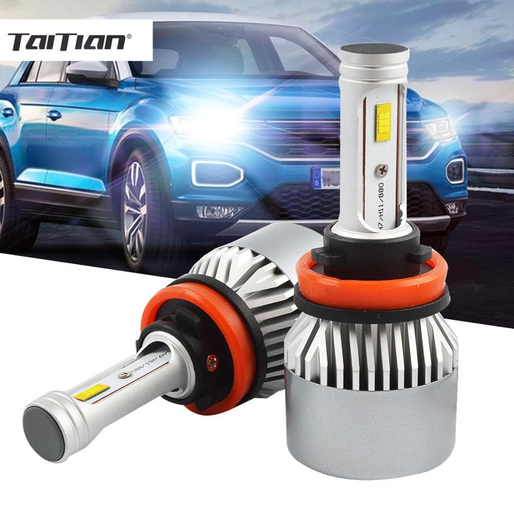 2 шт. 15200LM H7 turbo светодиодные фары лампы SMD 144 Вт H1 Светодиодные лампы auto H4 супер белый H8 H9 H11 высокая мощность H15 12 В 24 В грузовик лампы