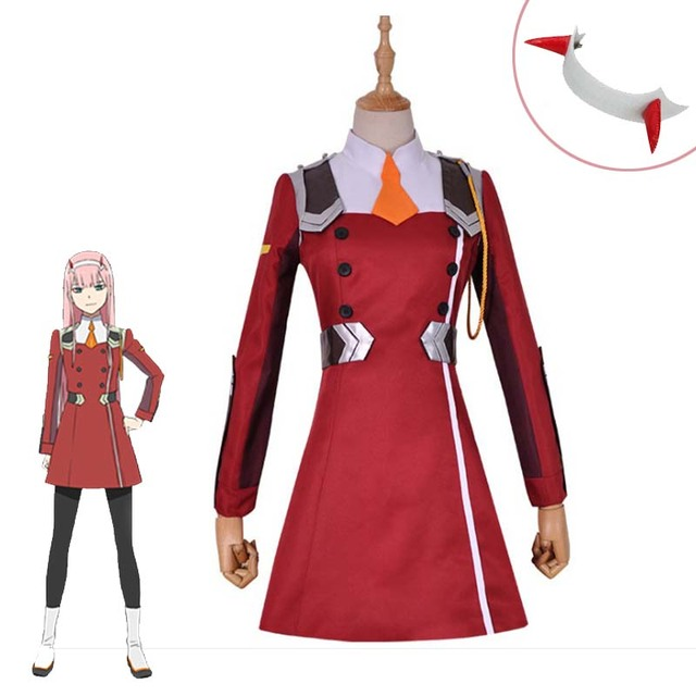 New Zero Two Darling In The Franxx 02 Cosplay Costume Girls Cute