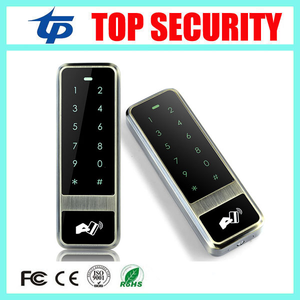 Bronze color surface waterproof touch keypad door access control reader 125KHZ RFID card access control system can copy dates original access control card reader without keypad smart card reader 125khz rfid card reader door access reader manufacture