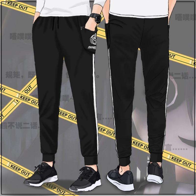 Adult Unisex Danganronpa Monokuma Cotton Pencil Sweat Pants Costumes For Woman Man Plus Size