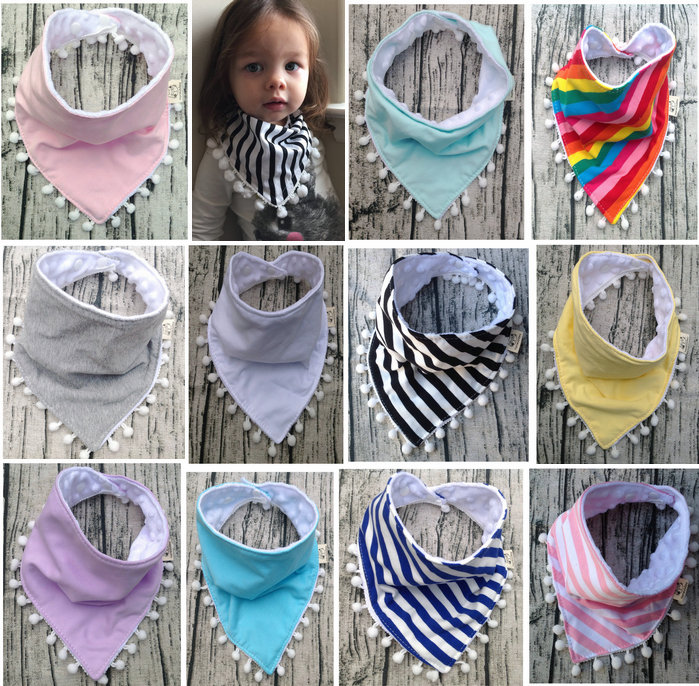 Styles Baby Bibs Boys Accessories Newborn Girls Burp Bandana Cotton Soft Toddler Triangle Scarf Infant Saliva Towel(China)