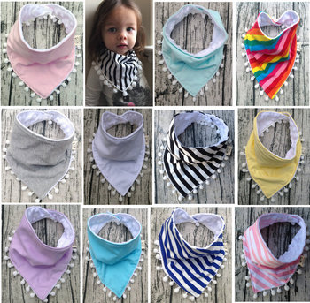 Styles Baby Bibs Boys Accessories Newborn Girls Burp Bandana Cotton Soft Toddler Triangle Scarf Infant Saliva Towel