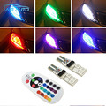 16 Colors LED SMD 5050 RGB T10 194 168 W5W Car Clearance Bulbs Parking Light For Ford Kia Toyota Peugeot Mazda Lada Hyundai Opel