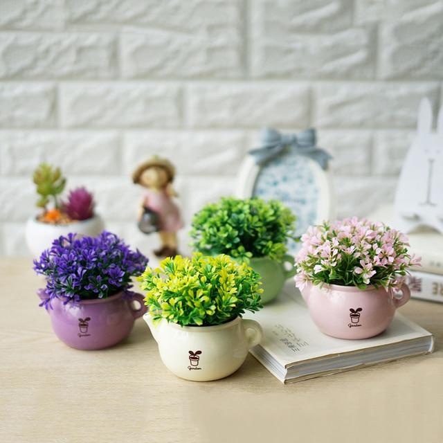 Aliexpress Buy Flower Vase Artificial Flowers Quality Bonsai