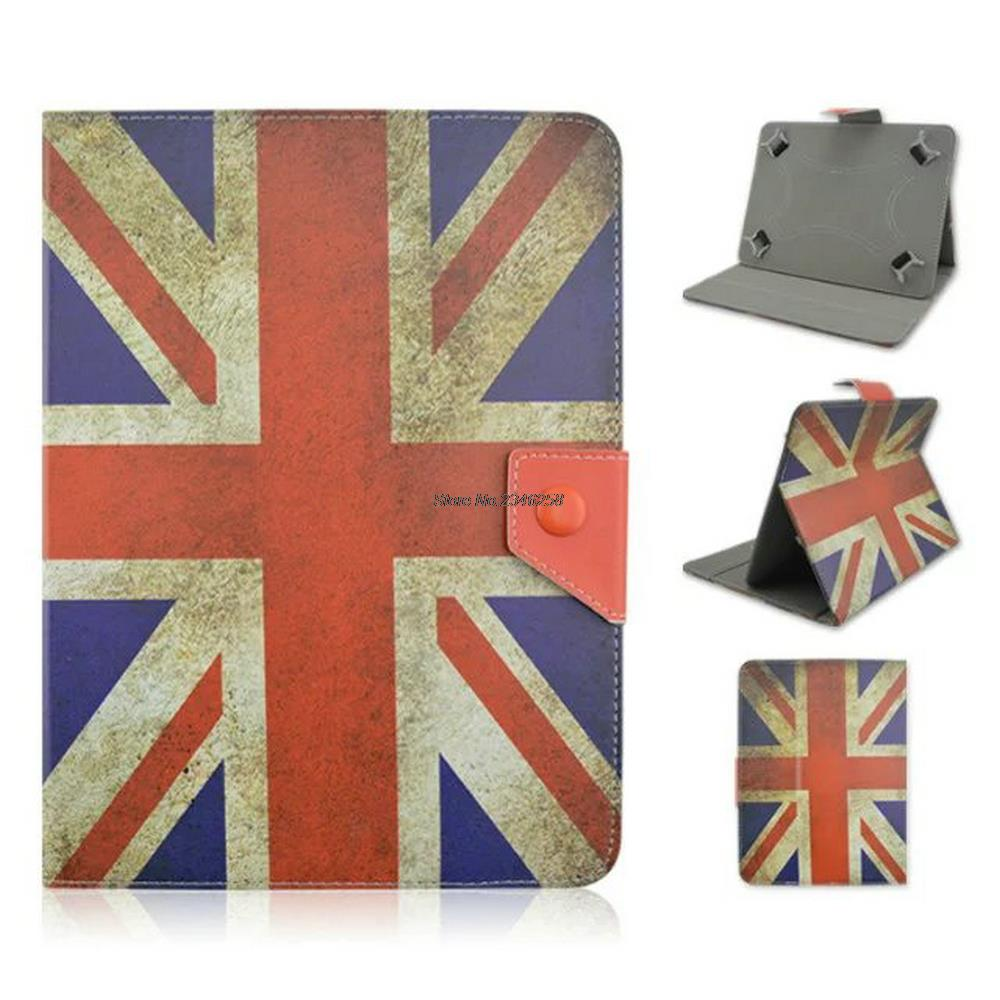 US UK flag 7 inch Universal Tablet Case Stand Holder Portable Foldable Stand Protective Cover Compatible with All 7 Pad 16:9