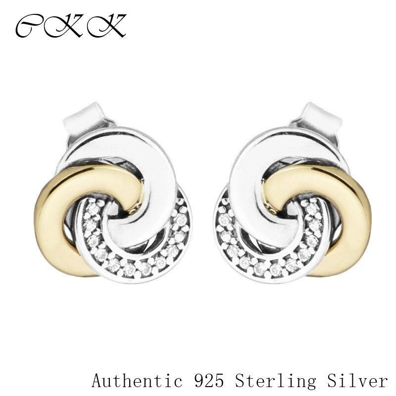 Boucles d'oreilles rondes en argent Sterling 925 avec CZ clair pour les femmes bricolage bijoux fins SLE086K