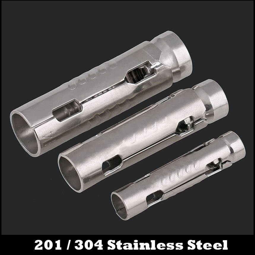 M6 M8 M10 M12 201 304 Stainless Steel 201ss 304ss Heavy Duty Expanding Expansion Sleeve Wedge Three Shield Anchor Bolt huafeng big arrow heavy duty 1 2 impact m bits sockets set 8 pcs m5 m6 m8 m10 m12 m14 m16 m18 cr mo material