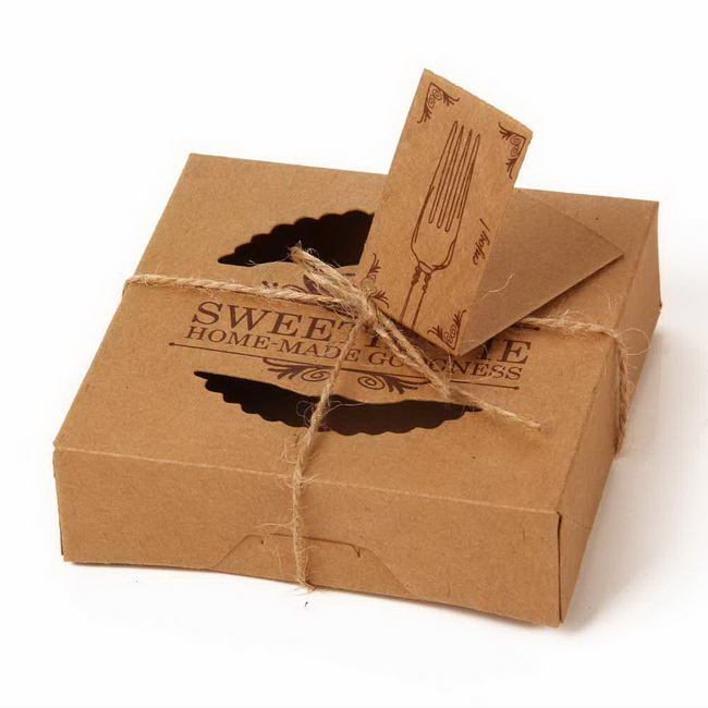 Kraft Box  Kraft Paper Packing Box Small Soap Boxes Mini Pie  Kraft Box 24pcs