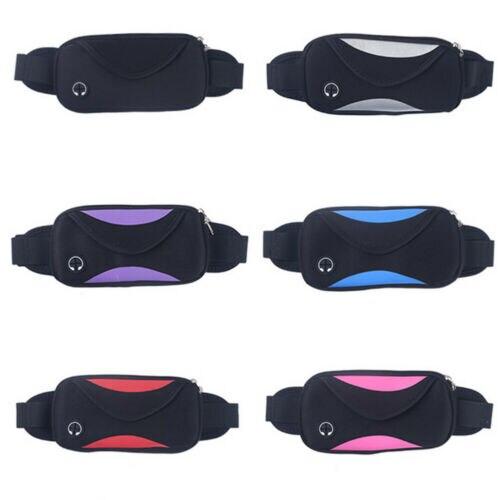 New Waterproof Running Belt Bum Waist Pouch Sport Camping Hiking Zip Pack Bag Small Belt Bag Cool Fanny Packs Unisex Chest Bag