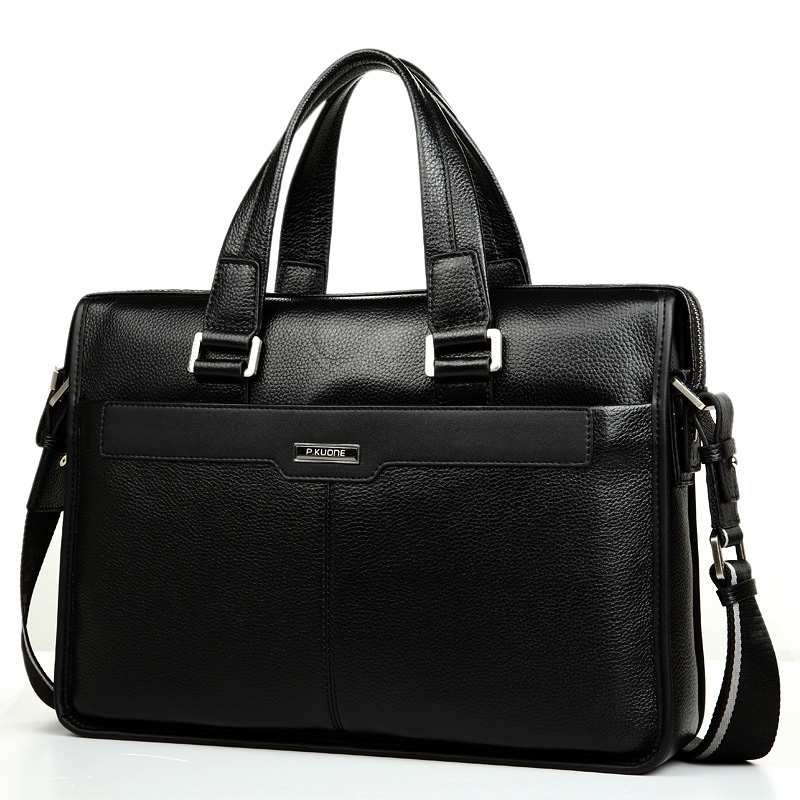 Luxury 100% Cow Genuine Real Leather Business Men's Briefcase Male Shoulder Bag Men Messenger Bag Brand Tote Computer Handbag