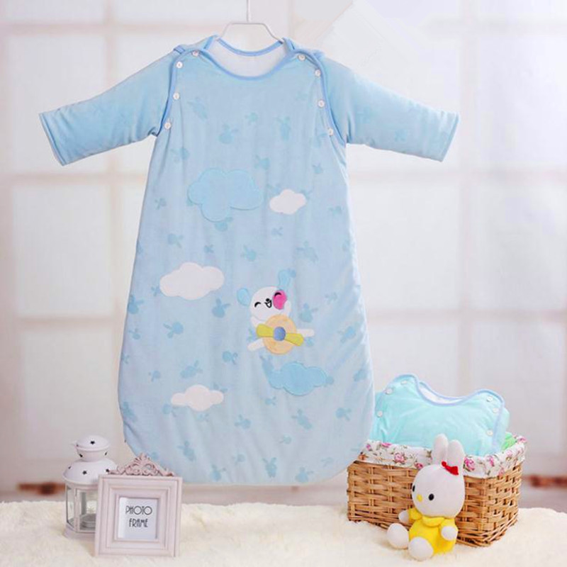 Cotton Baby Sleeping Bag Long Sleeve Baby Sleep Sack Winter 0-2 Years Newborn Envelop