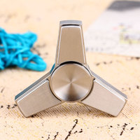 Triangle Hand Spinner Stainless Steel Mini Finger Spinner High Speed Spin Toy for ADHD Austim Relieves Stress EDC Fidget Toys