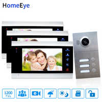 Wholesale 7 inch Video Door Phone Video Intercom Multi-Apartments Home Access Control System for 3 Separate Family 1200TVL CMOS