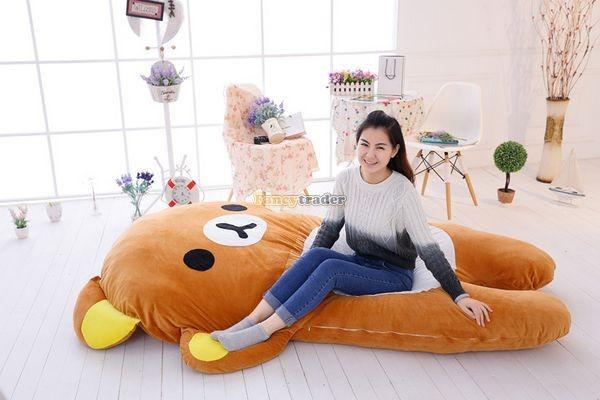 Fancytrader   200cm X 150cm Giant Huge Soft Cute Rilakkuma Double Bed Carpet Tatami Mattess Sofa, FT50336 (3)