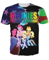 Women Men Bronies T Shirt The My Little Pony Cartoon Pinky Pie Rainbow Dash Applejack Fluttershy