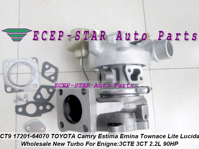 CT9 17201-64070 17201-64071 TURBINE TURBO Turbocharger Fit For <font><b>TOYOTA</b></font> Camry Lite TownAce Vista Emina Lucida <font><b>3CT</b></font> 3C-T 2.2L 90HP image
