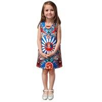 Princess Dress Girls Clothes 2016 Brand Baby Girls Dress Ethnic Pattern Kids Dresses For Girls Sleeveless