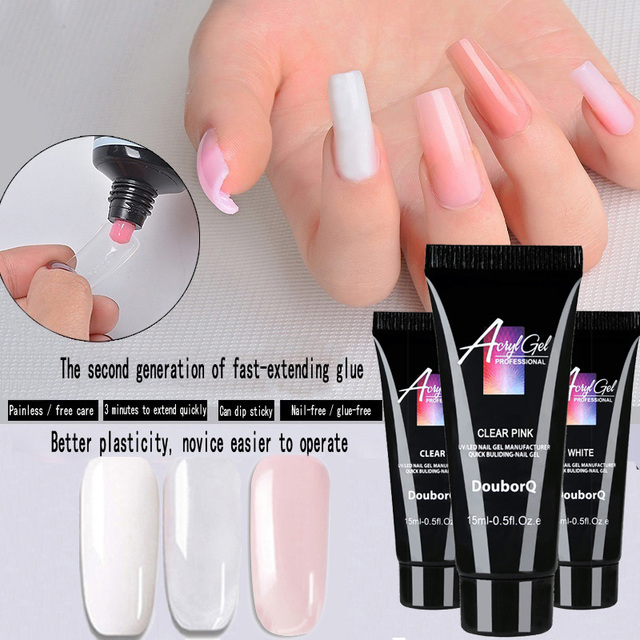 1pc Nail Extend Builder Poly Gel Remover Slip Solution Nail Art
