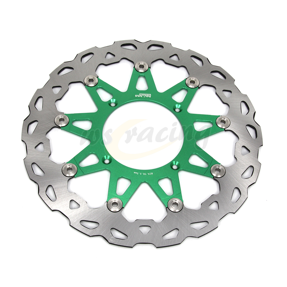 CNC 320MM Motorcycle Front Floating Brake Disc Rotor For KAWASAKI KX125 KX250 2006-2008 KX250F KX450F 2006-2015 KLX450R 07-15 keoghs real adelin 260mm floating brake disc high quality for yamaha scooter cygnus modify