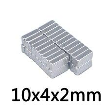 50 шт. 10*4*2 мм магнитные материалы неодимовый магнит мини небольшой блок магнит квадратный магнит