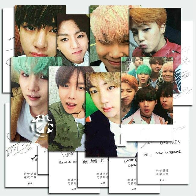 Kpop Photos Poster Album Postcard Card 8 Cards K-pop Bangtan Boys Jin Suga Personal Signature Greeting Lomo Photocard Pictorial