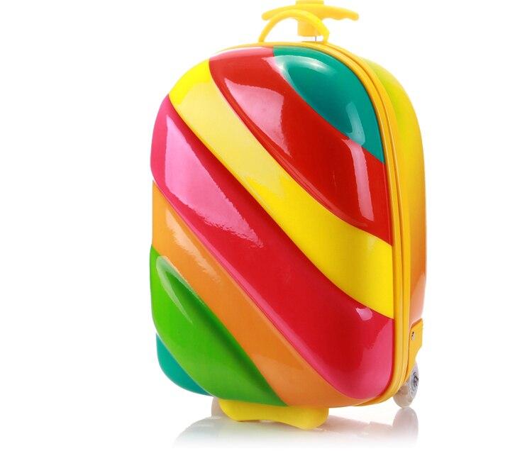ECMARVALLOUS 16'' ABS Colorful Kid suitcase travel luggage koffer maleta valise недорго, оригинальная цена