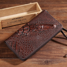 3D Crocodile Men Women Genuine Leather hand Bag Ladies Clutch Fashion Evening Bags for male female Alligator Pattern Purse