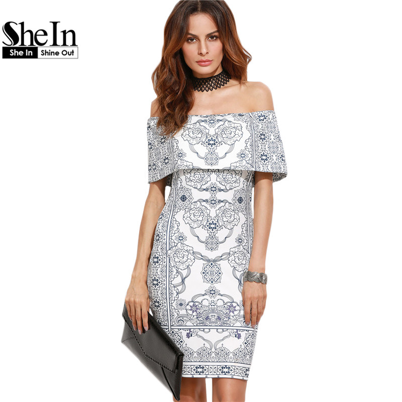 Shein 2016 dresses women autumn party dress white vintage - White dress party ...