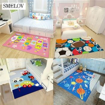large rectangle Lovely Cartoon carpet for childrenroom bedroom livingroom kids play carpets baby climb floor mat Area rug 200cm
