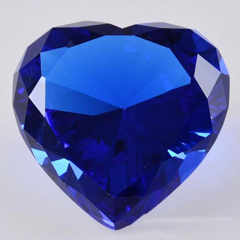 90mm formë zemre shumëngjyrëshe Diamanti i kristalit Diamanti i - Dekor në shtëpi - Foto 5