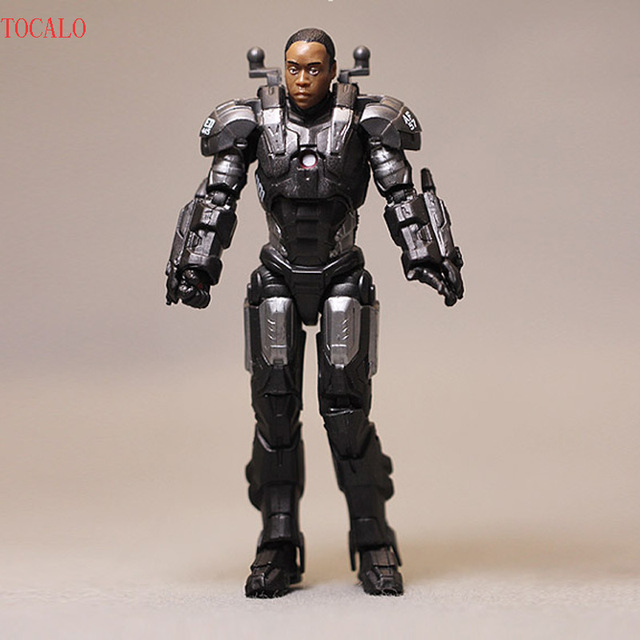 10cm Iron Man Military Colonel Rhode Action Figure Decoration Collection Model with Opp Bag