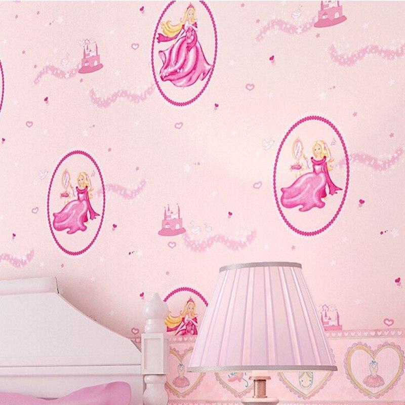 freies verschiffen hochwertigen grnen papier tapete rosa disney prinzessin schlafzimmer tapete romantische mdchen kinderzimmer tapete - Tapete Schlafzimmer Romantisch