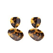 Handmade Leopard Acrylic Earrings For Women Irregular Tortoiseshell Resin Earring Vintage Acetate Earing oorbellen