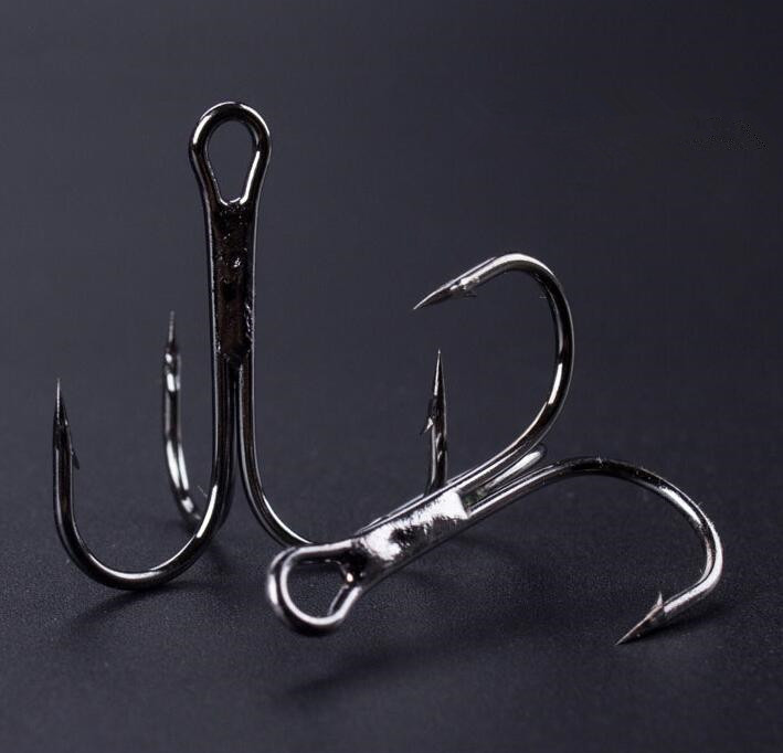 10 pcs size 8 6 4 2 nickle round bend high quality for Fishing hook sizes for bass