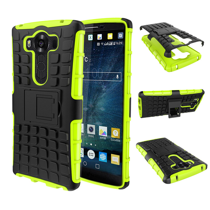 Heavy Duty Rugged Armor <font><b>Case</b></font> Silicon Cover For <font><b>LG</b></font> G3 G4 <font><b>G5</b></font> G6 K7 K10 V10 Leon Spirit G4 Mini Shockproof Coque With Kickstand
