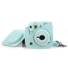 PU Leather Instant Camera Bag Colorful Pouch Case with Strap for Fujifilm Instax Mini 8 Skin Cover Camera Accessories все цены