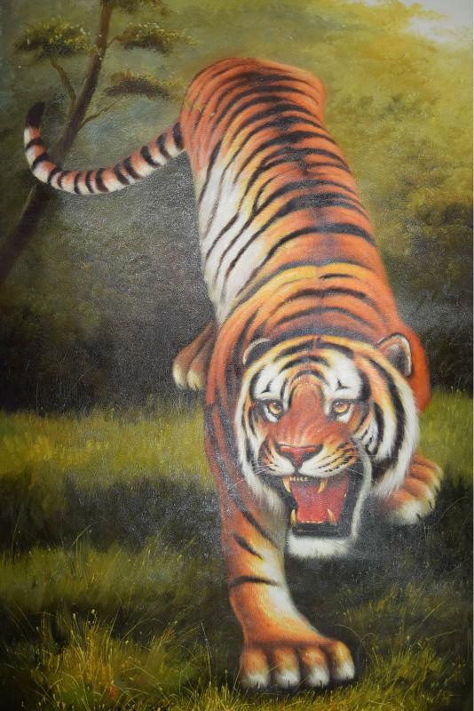 100 Handgeschilderde Hoge Kwaliteit Dier Olie Canvas Realist ...