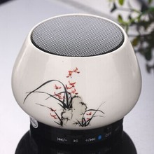 New hot Portable Mini Bluetooth Speakers Ceramics Wireless Smart Hands Free Speaker With FM Radio Support SD Card For iPhone