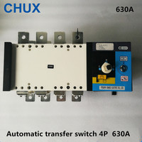4P 630A Dual Power Automatic Transfer Switch PC Grade 380v 3 phases Circuit Breaker Isolation type 630A ATS