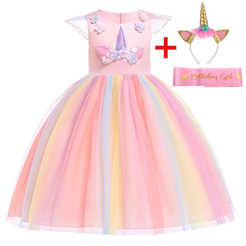 Unicornio Niñas Vestido 2019 Carnaval Pascua Niños Vestidos Para Niñas Ropa Tutú Cumpleaños Fiesta Princesa Vestidos Para Disfraz Vestido