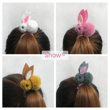 Rabbit hair ring female rubber band
