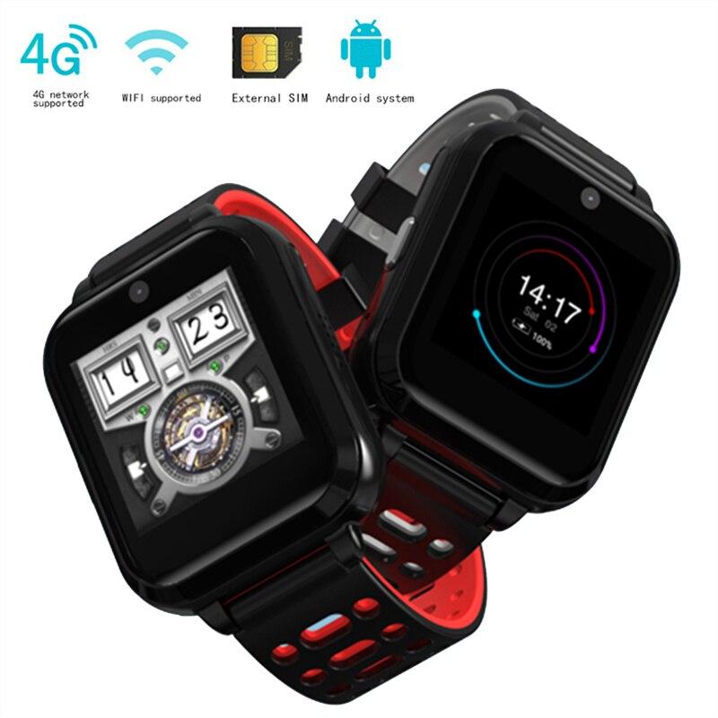 Gps smart watch M1 поддерживает 4 г сети WI FI сердечный ритм проверка артериального давления часы IP67 модные водонепроницаемые quad core smart watch