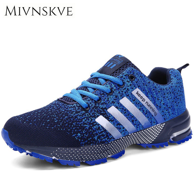 MIVNSKVE 2017 Men Casual Shoes Autumn Summer mesh lovers shoes brand Fly Weave Light Breathable Fashion