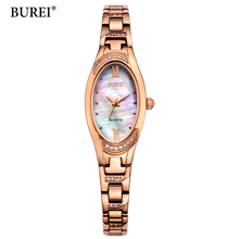 BUREI Brand Luxury Women Watches Ladies Casual Quartz Watch Female Clock Gold Stainless Steel Bracelet Dress Watch relogio