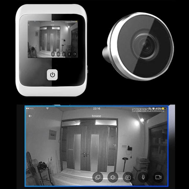 3.0 inch Digital LCD Peephole Viewer Eye Doorbell 170 Degree Wide Angle Digital HD Eye Video Recorder 1MP Camera Dropshipping