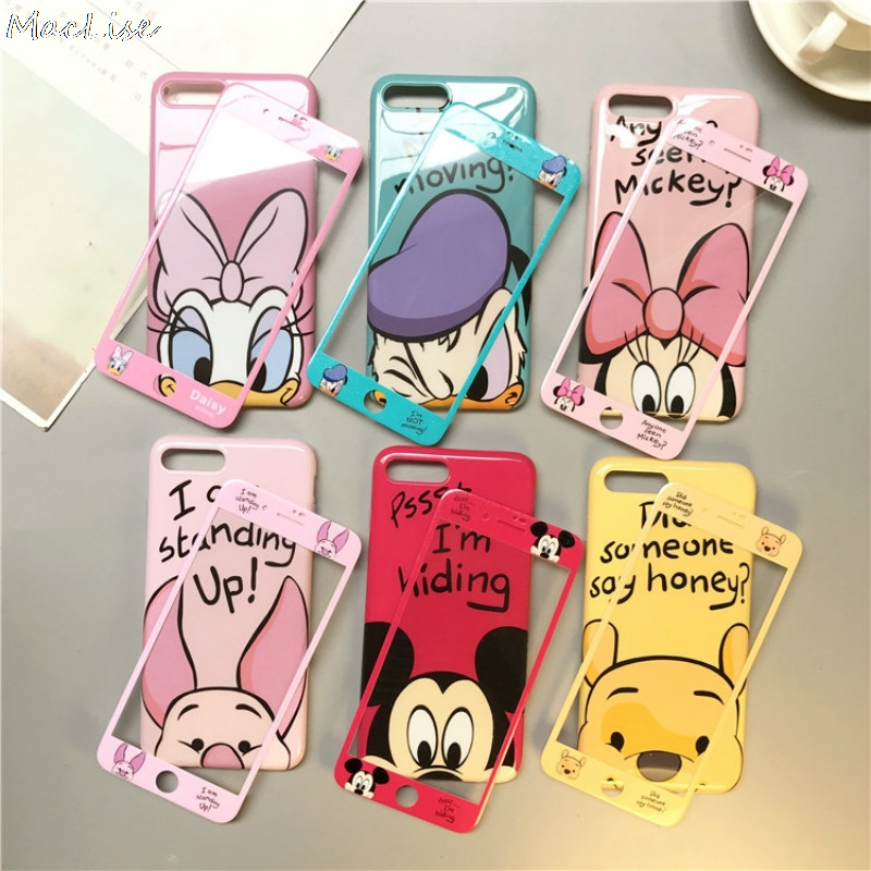 360 Full Cover Phone Case + Screen Protector for IPhone X 8 7 6 S 6S Plus for Iphone7 Iphonex Iphone8 Coque Cartoon TPU Cover-in Fitted Cases from Cellphones & Telecommunications on Aliexpress.com | Alibaba Group