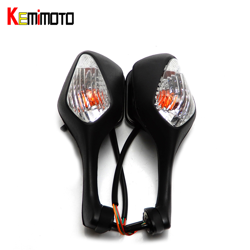 KEMiMOTO For Honda CBR1000RR Motorcycle Side Mirror With Turn Signal Light for Honda CBR1000RR 2008 2009 2010 2011 2012 Mirror arashi motorcycle radiator grille protective cover grill guard protector for 2008 2009 2010 2011 honda cbr1000rr cbr 1000 rr