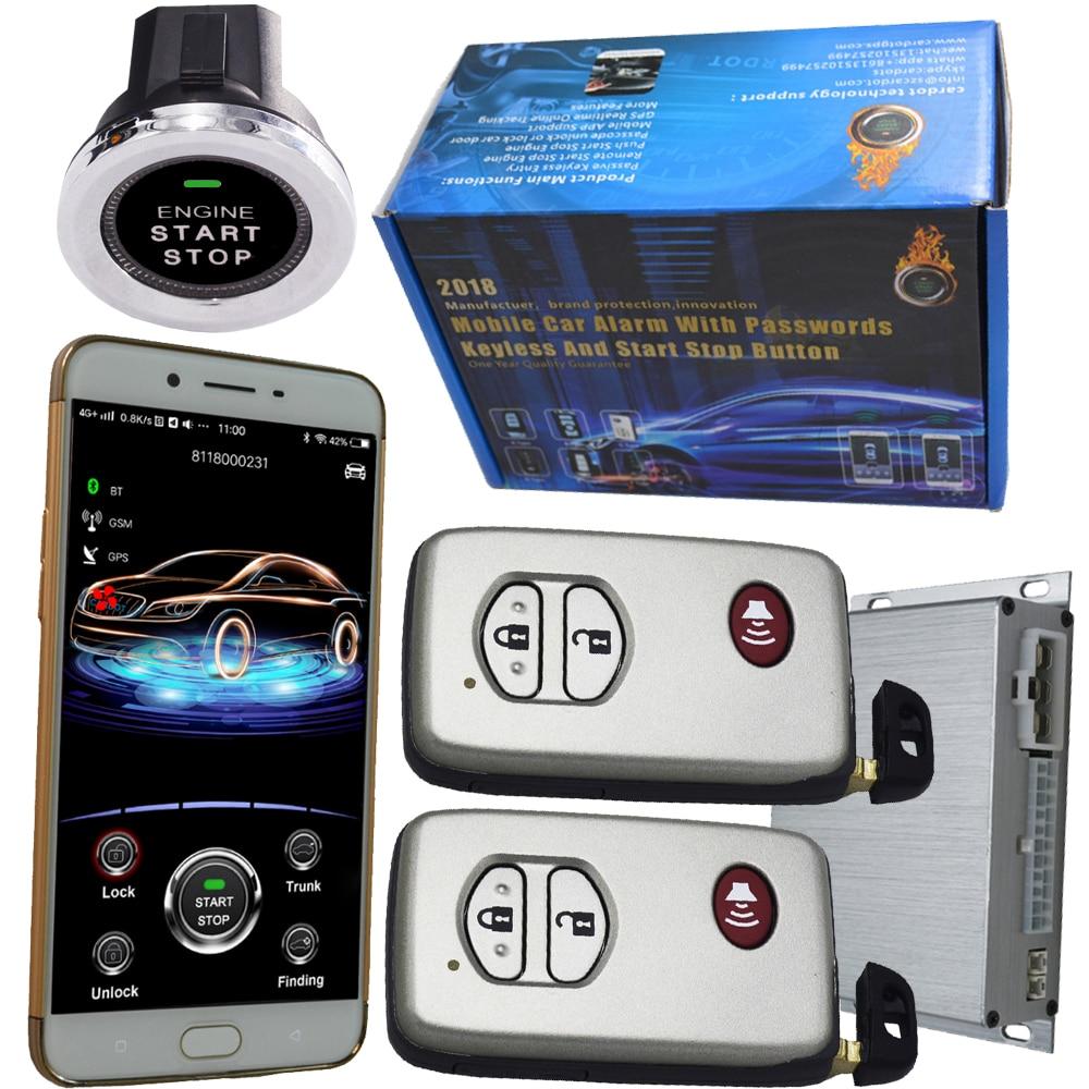 Bluetooth keyless Авто сигнализация автомобиля двигатели для автомобиля start stop комплект keyless go зажигания решение смартфон дверные замки gps ключ лока
